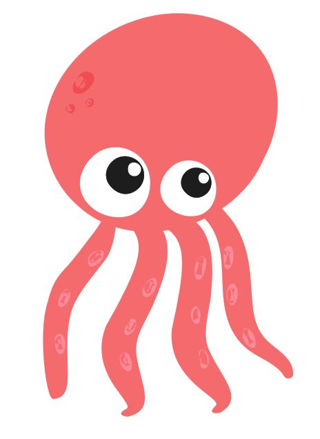 Pink Octopus Colourfast Graphics