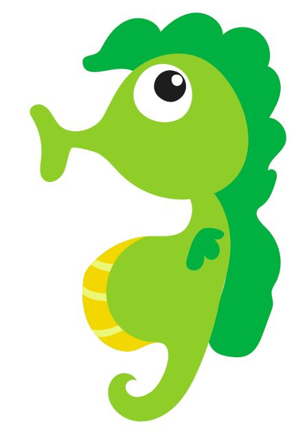 Whistling Seahorse Colourfast Graphics