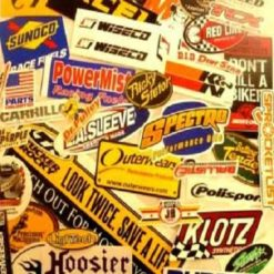 Race logos and Various stickers