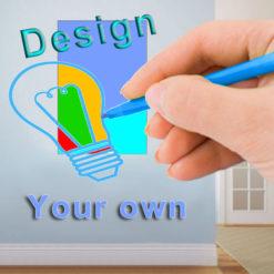 Custom designed hard board prints