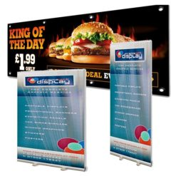 Printed PVC Banners and stands