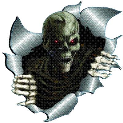 Skull Broken Metal
